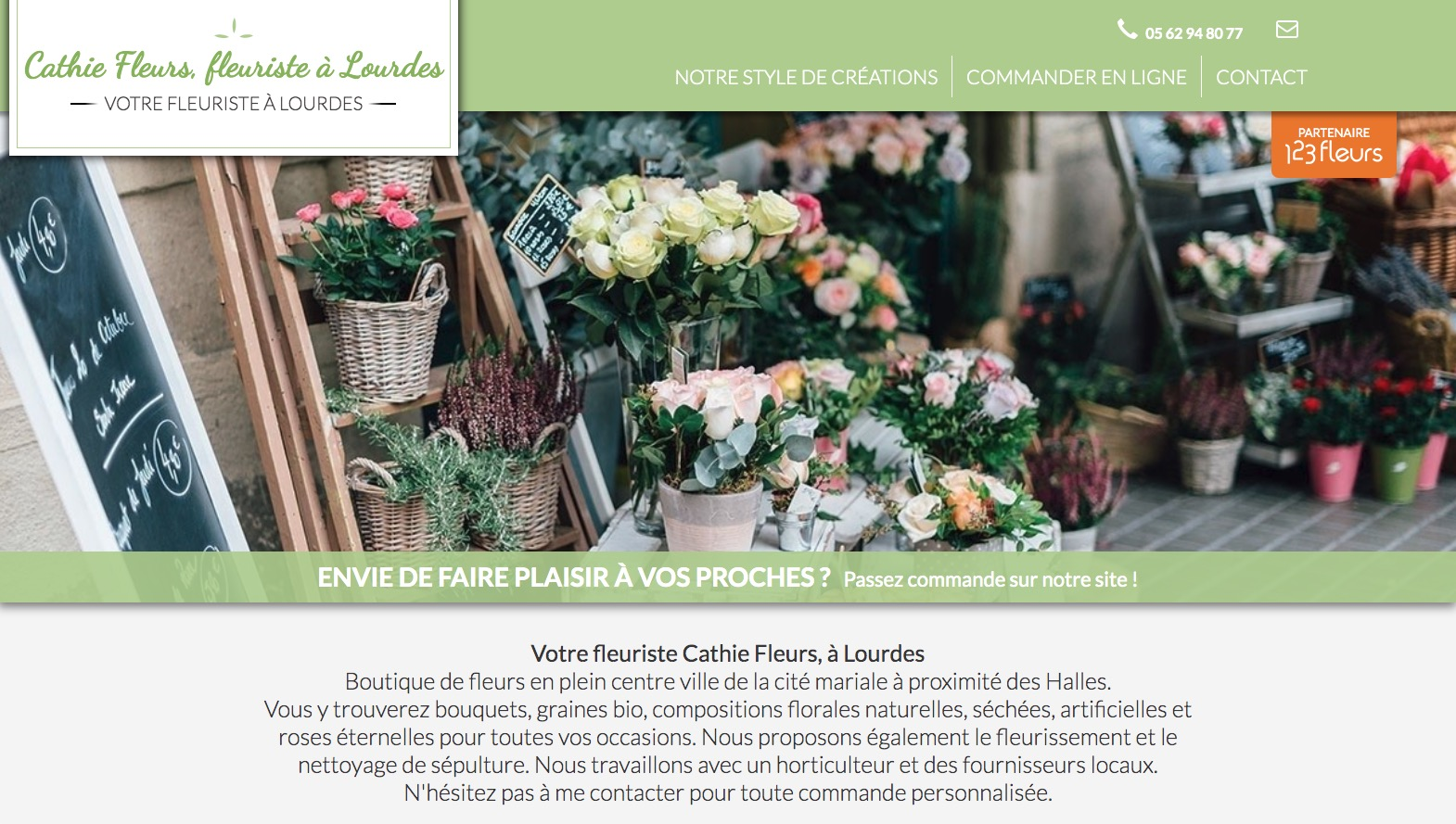Site fleuriste Cathie Fleurs - 123fleurs