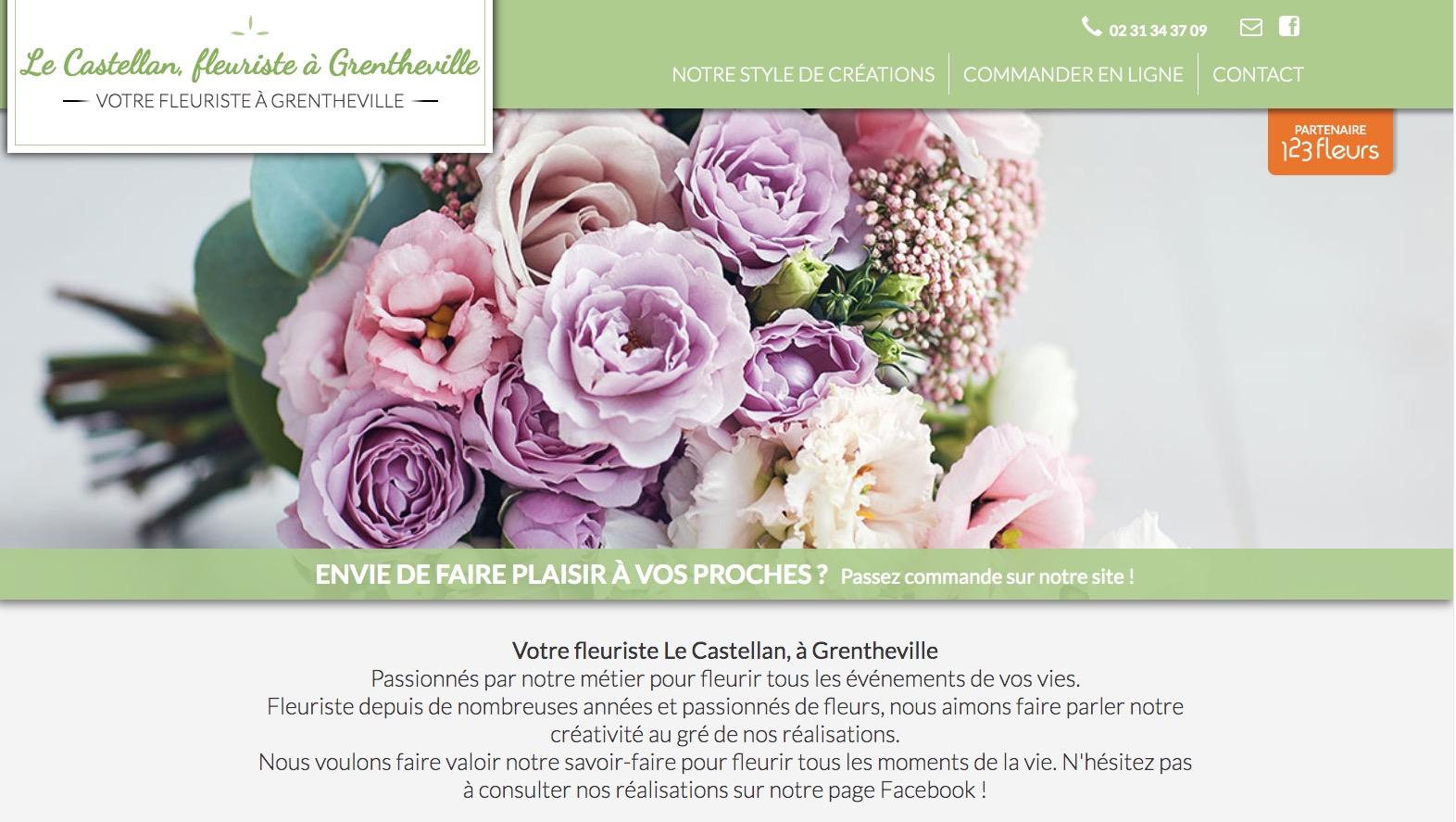 Site fleuriste Le Castellan - 123fleurs