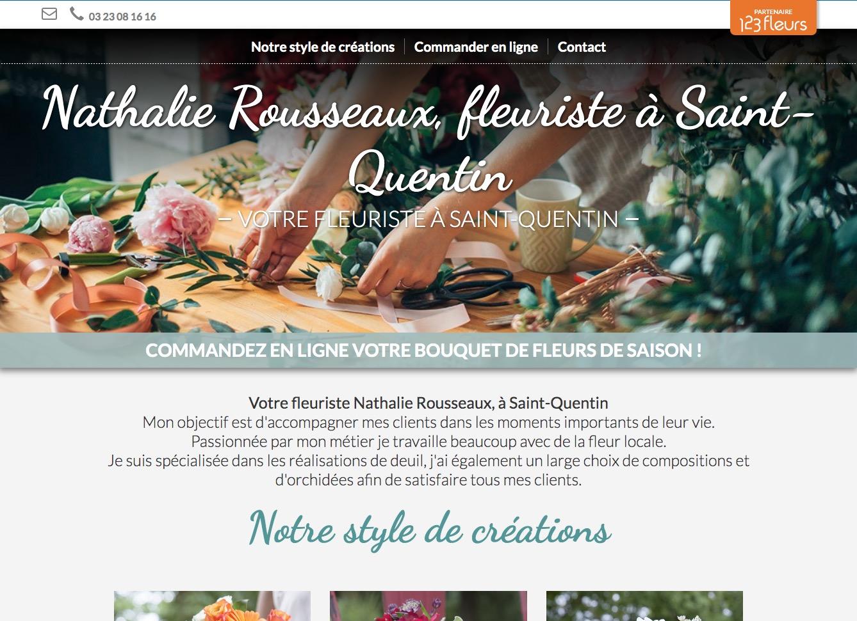 Site fleuriste Nathalie Rousseaux - 123fleurs