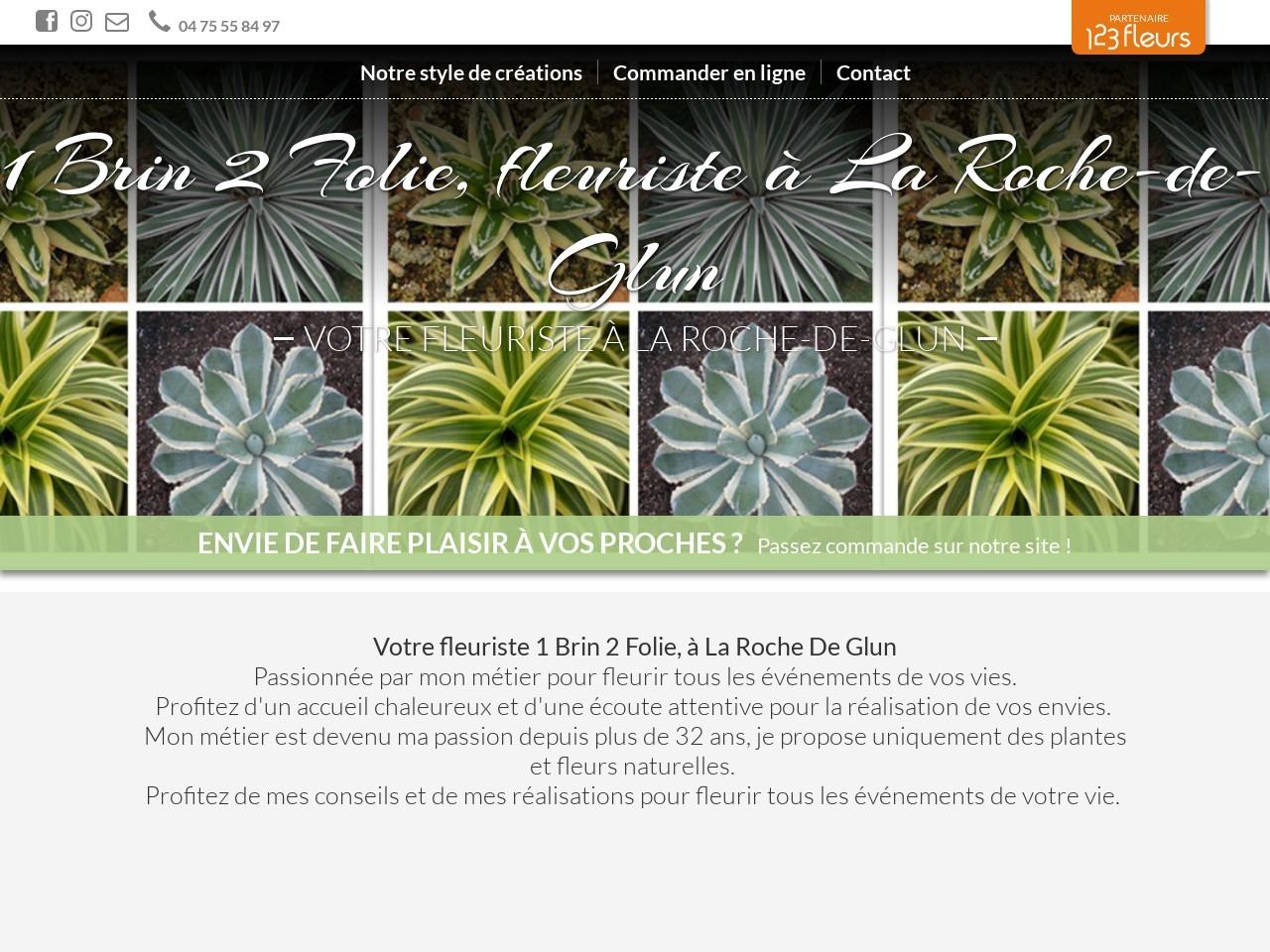 Site fleuriste 1brin2folie - 123fleurs