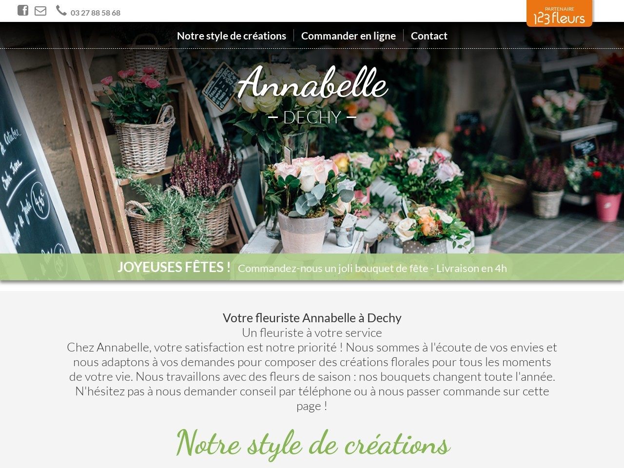 Site fleuriste ANNABELLE - 123fleurs