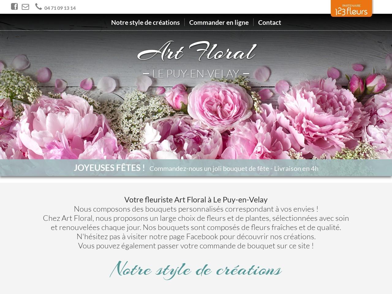 Site fleuriste Art floral - 123fleurs