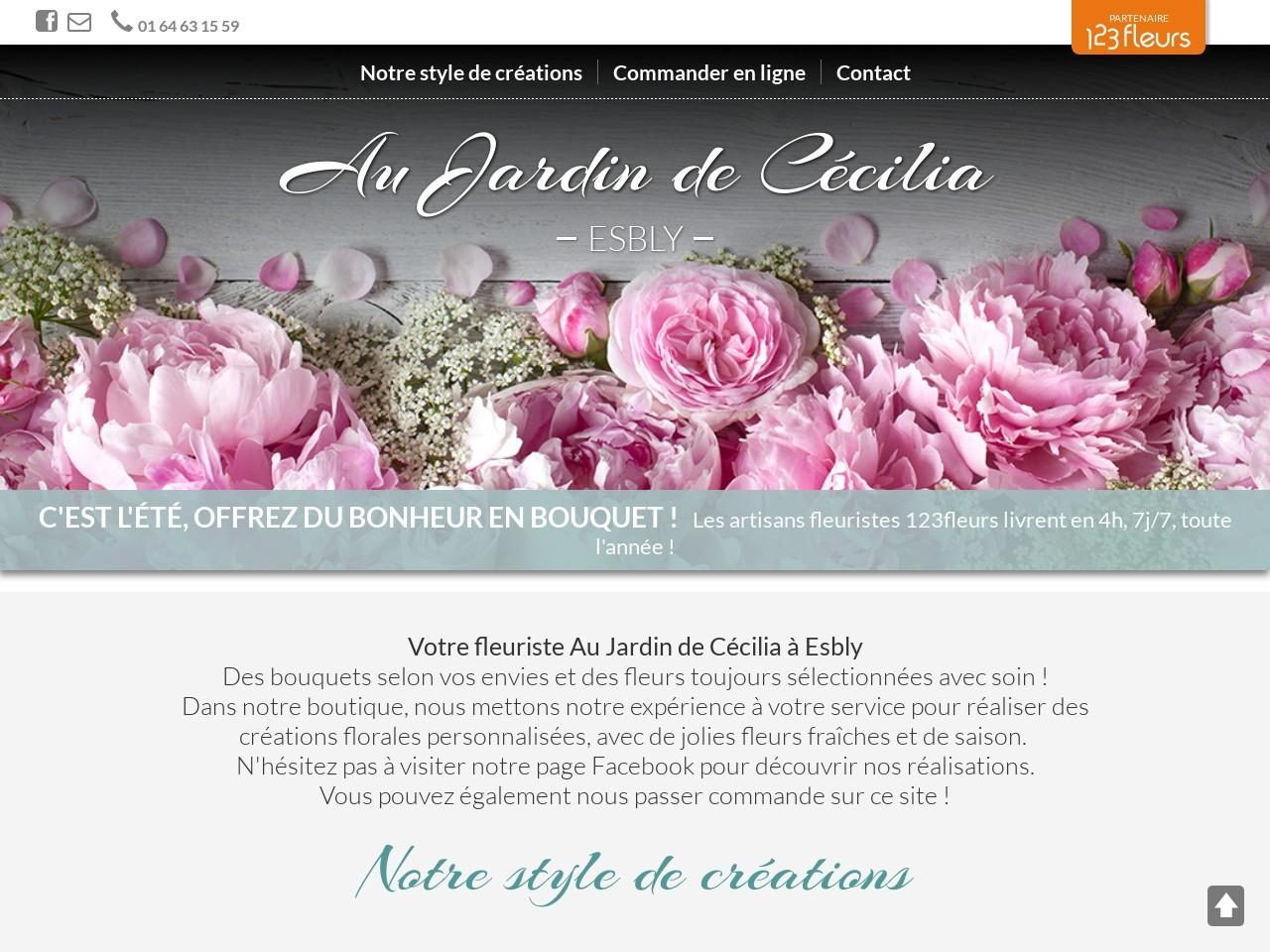 Site fleuriste Au Jardin de Cecilia - 123fleurs