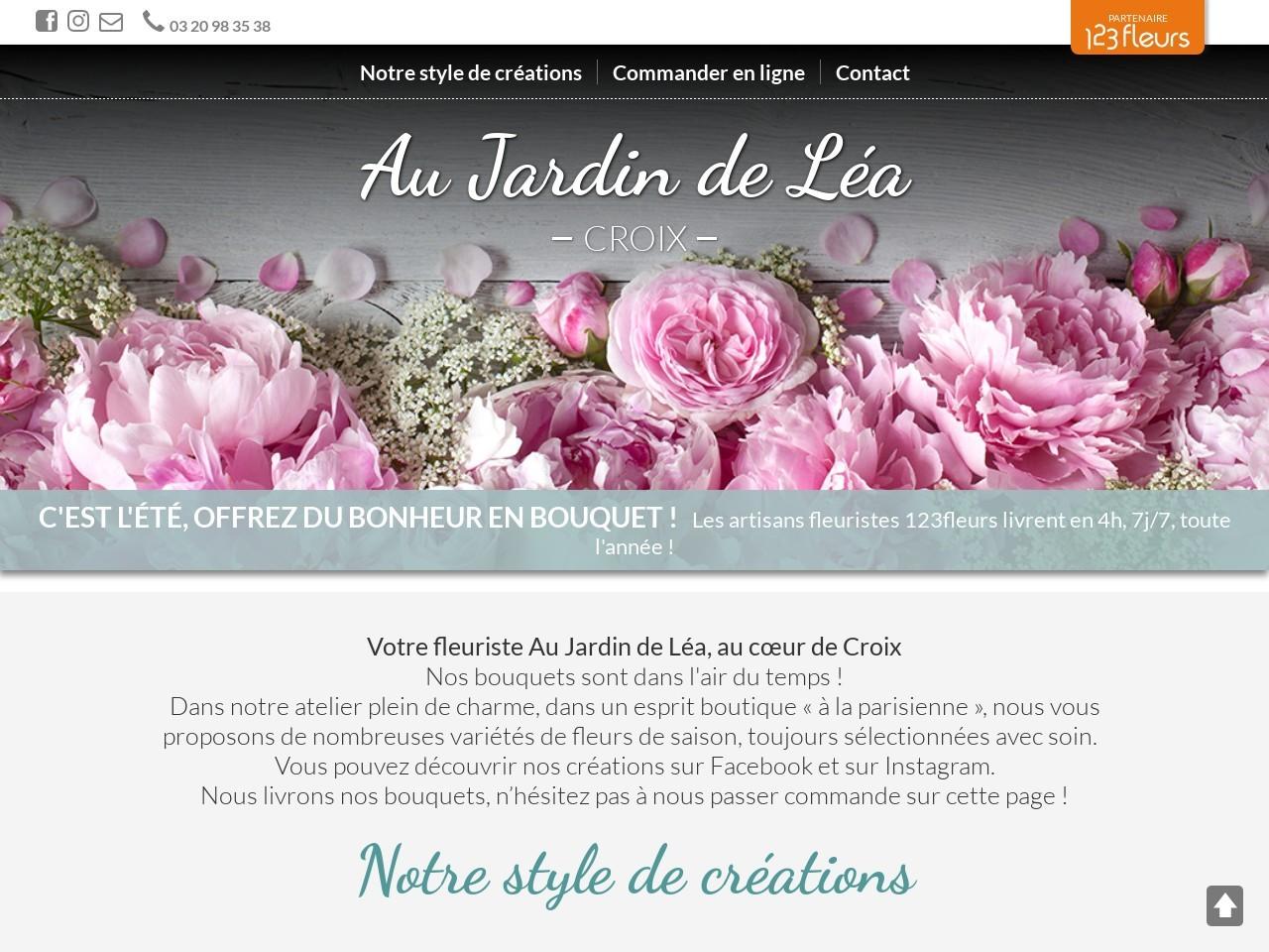 Site fleuriste Au Jardin de Léa - 123fleurs