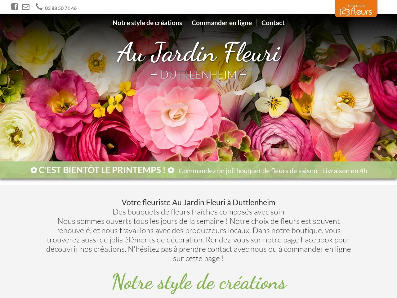 Site fleuriste Au Jardin Fleuri - 123fleurs