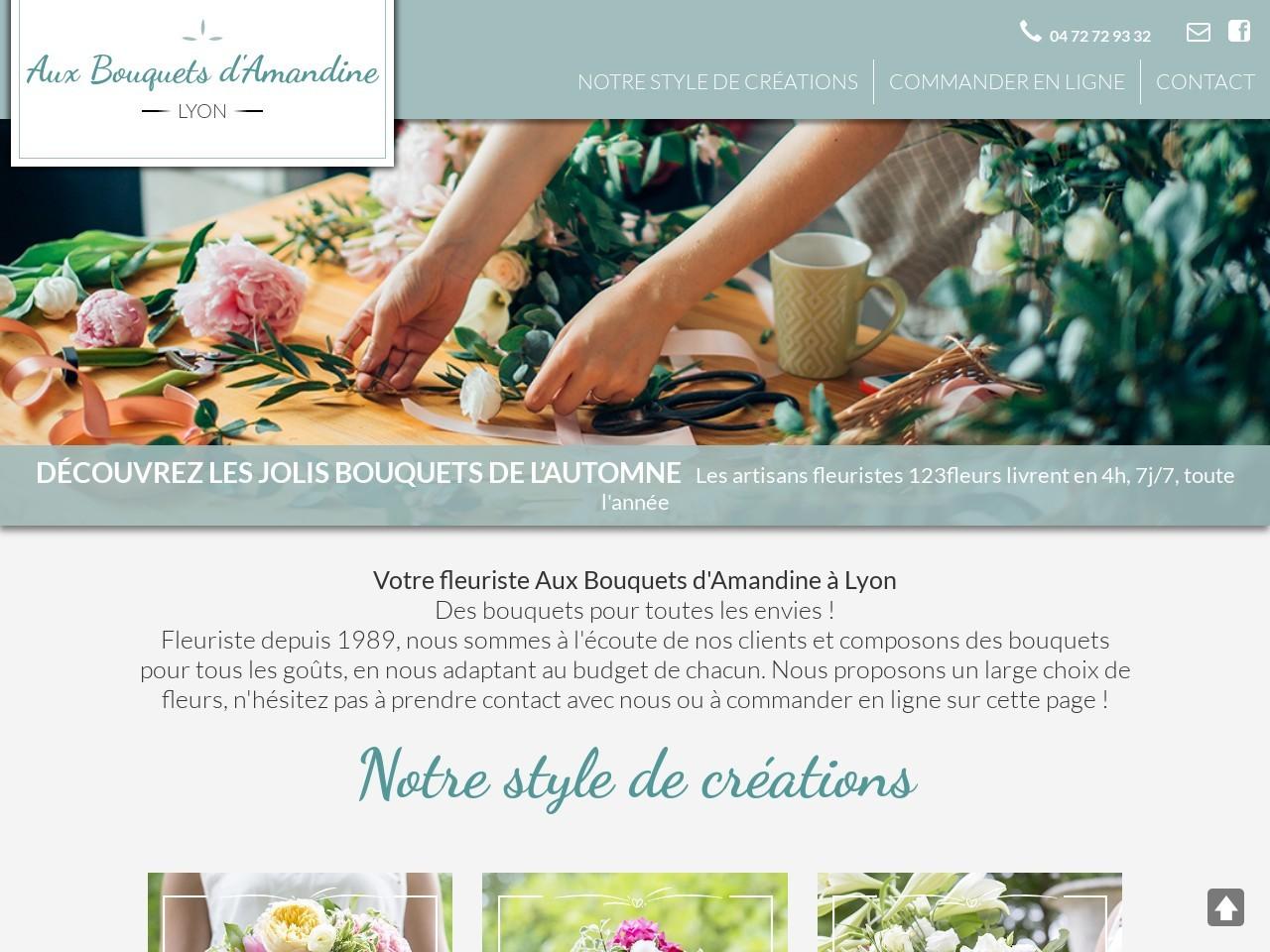 Site fleuriste Au Bouquet d'Amandine - 123fleurs