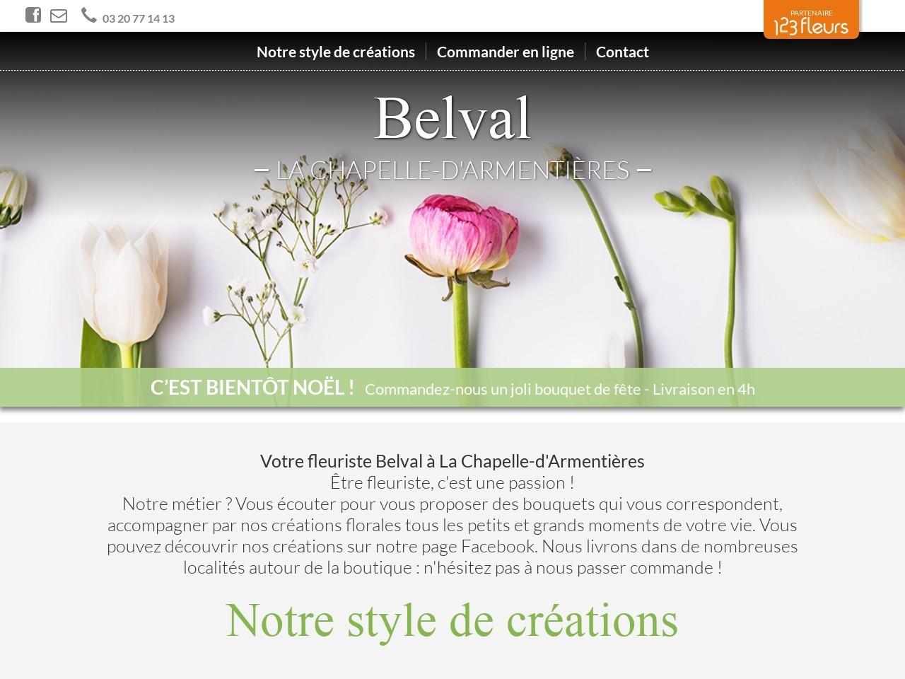 Site fleuriste Belval - 123fleurs