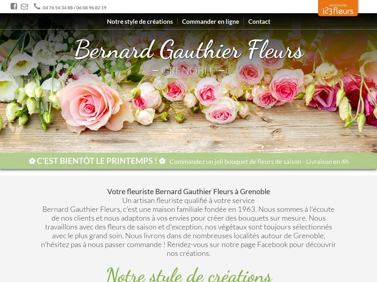 Site fleuriste Bernard Gauthier Fleurs - 123fleurs