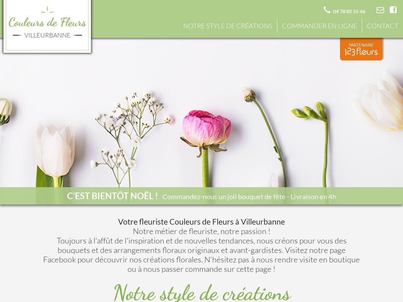Site fleuriste Couleurs de Fleurs - 123fleurs