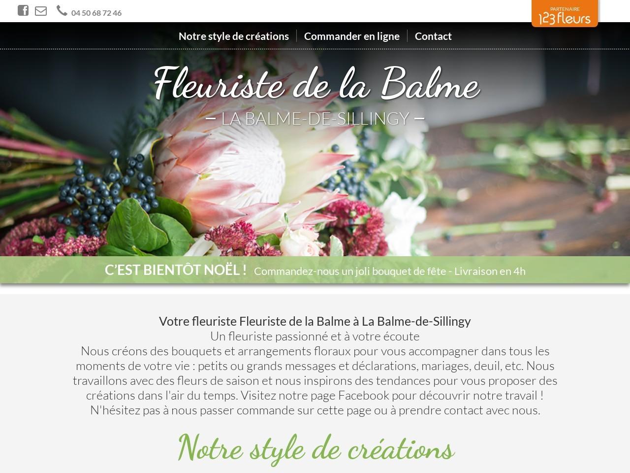 Site fleuriste Fleuriste de la la Balme - 123fleurs