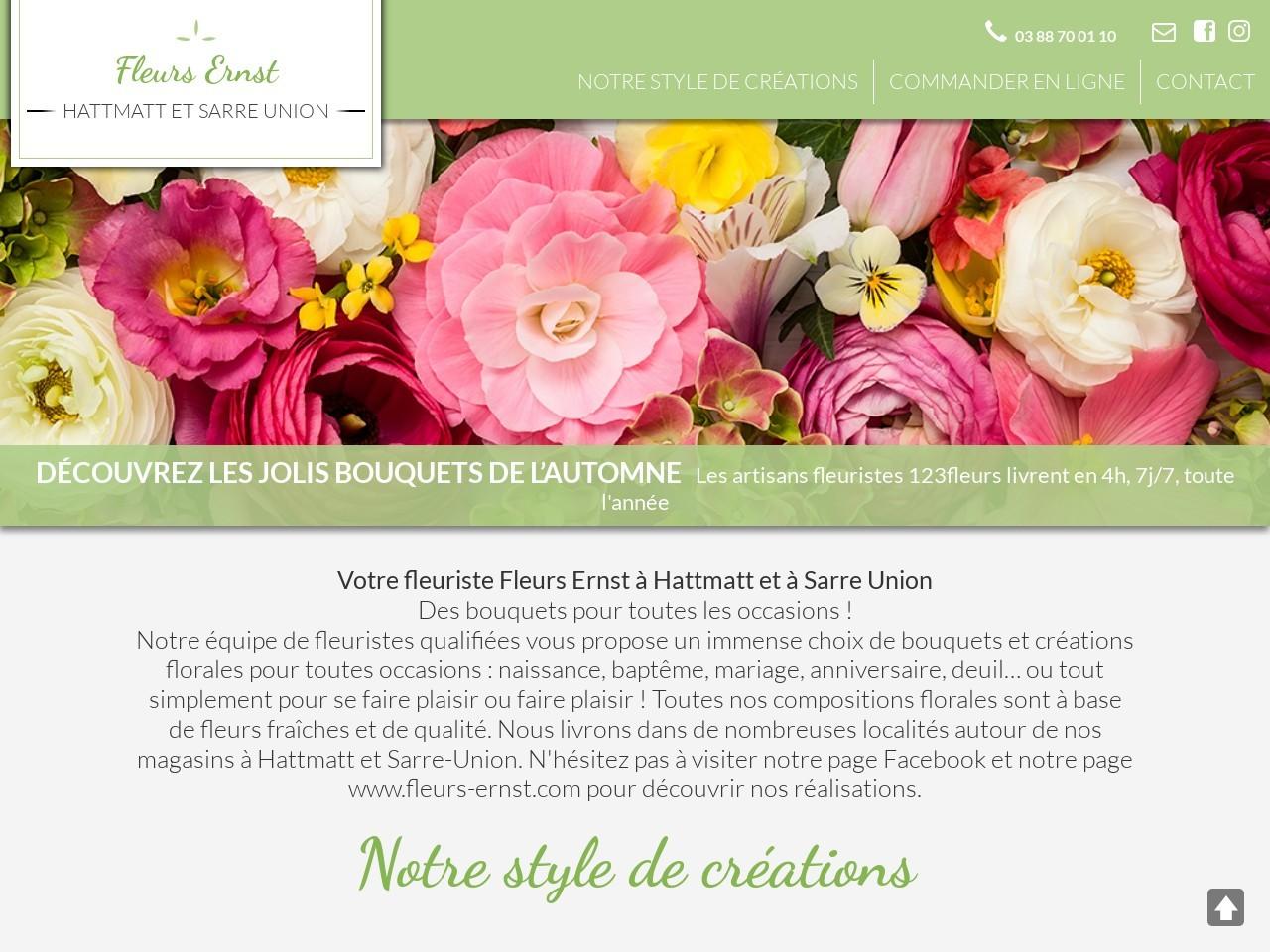 Site fleuriste Fleurs Ernst - 123fleurs