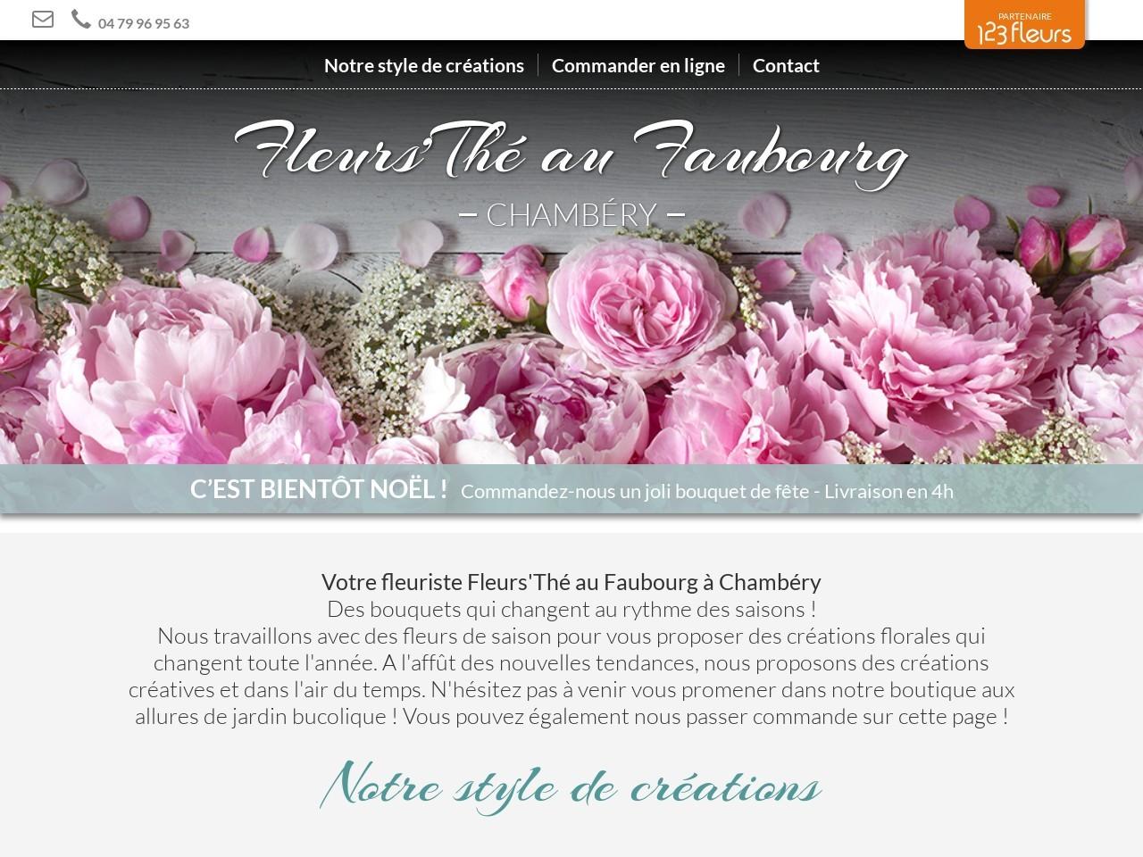 Site fleuriste Fleurs au Faubourg - 123fleurs