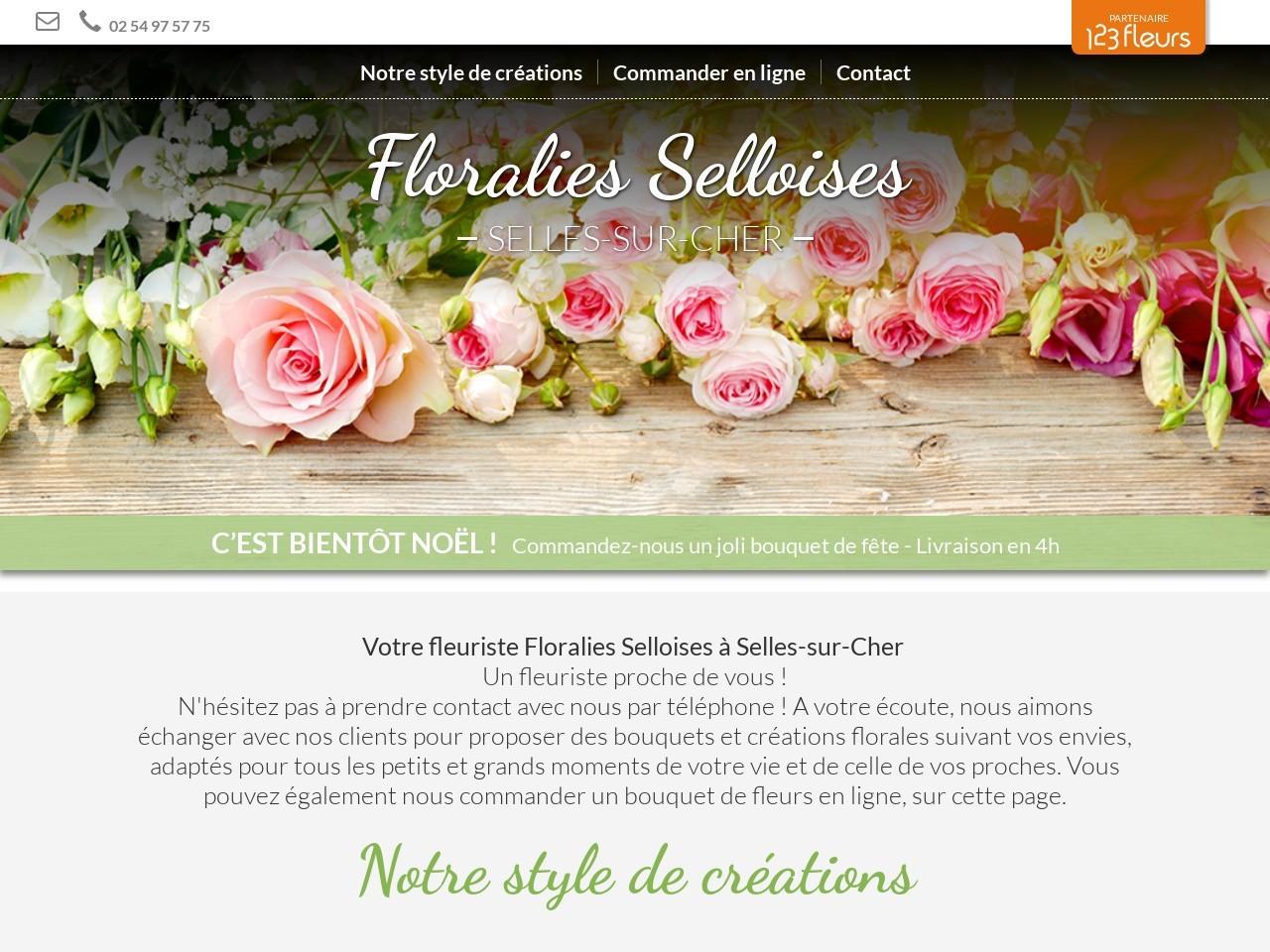 Site fleuriste Floralies Selloises- 123fleurs