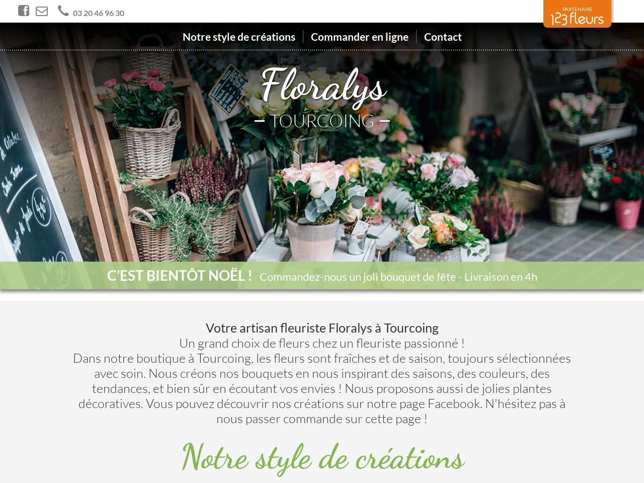 Site fleuriste Floralys- 123fleurs