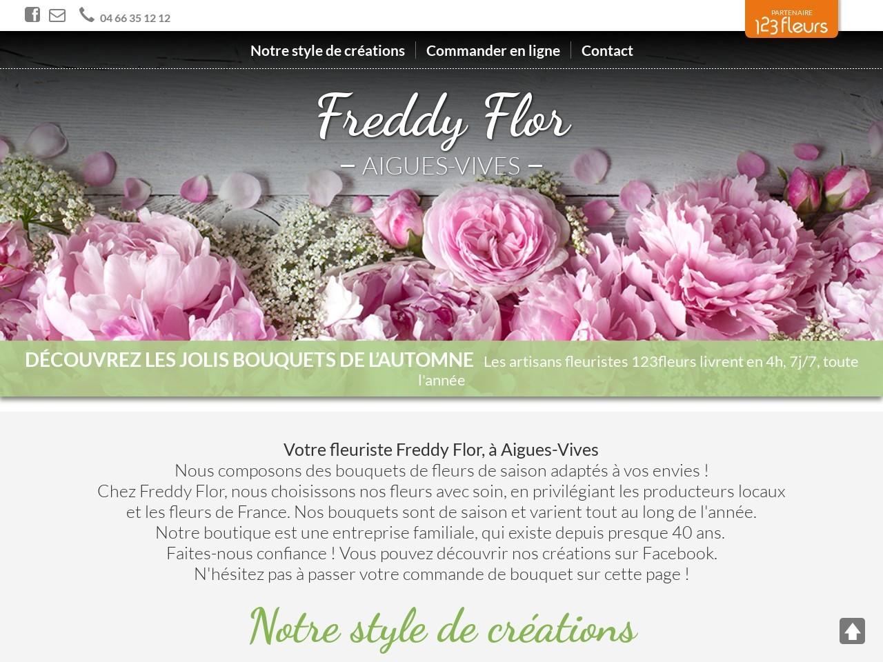 Site fleuriste Freddy Flor - 123fleurs