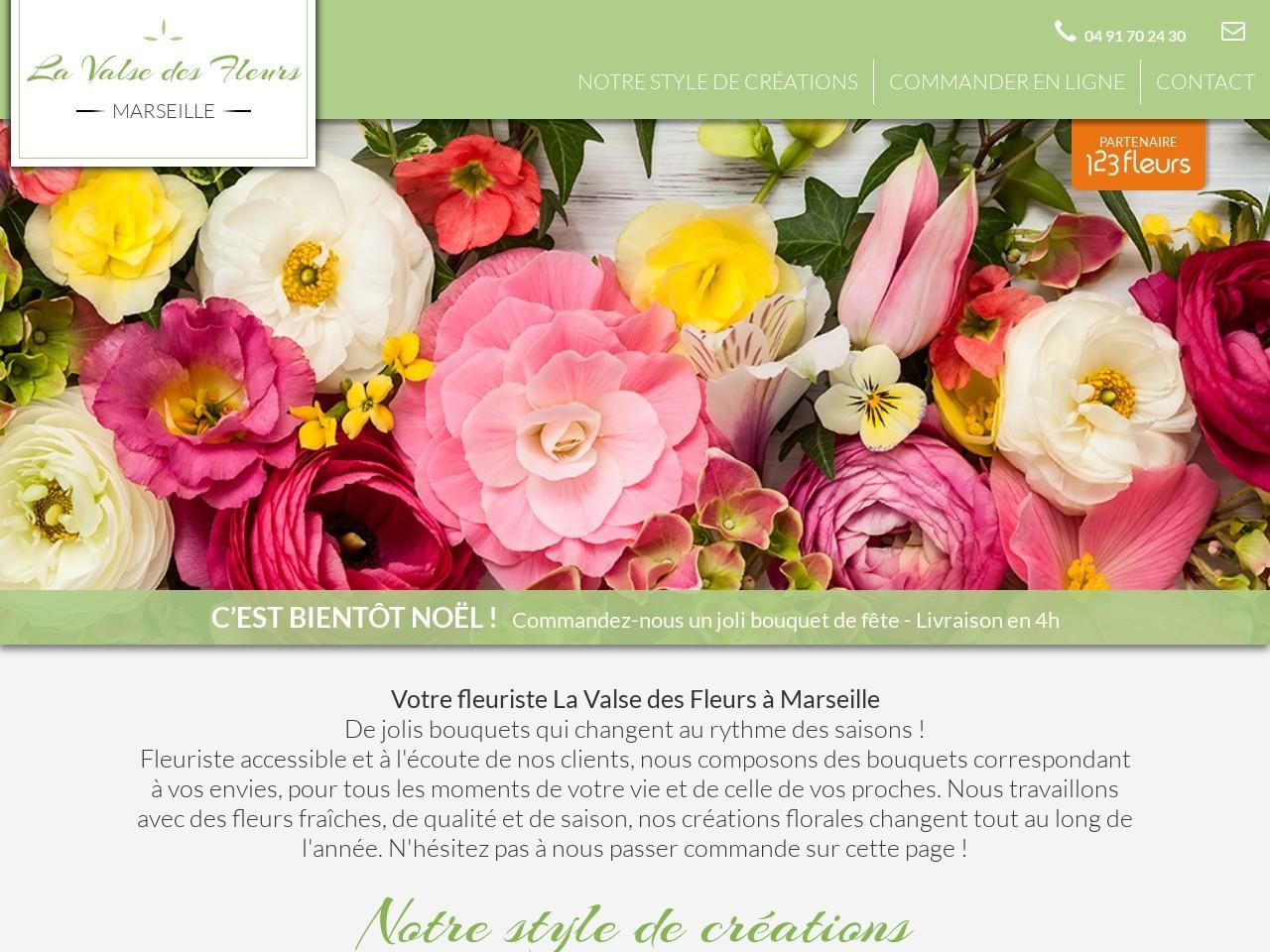 Site fleuriste La Valse des Fleurs - 123fleurs