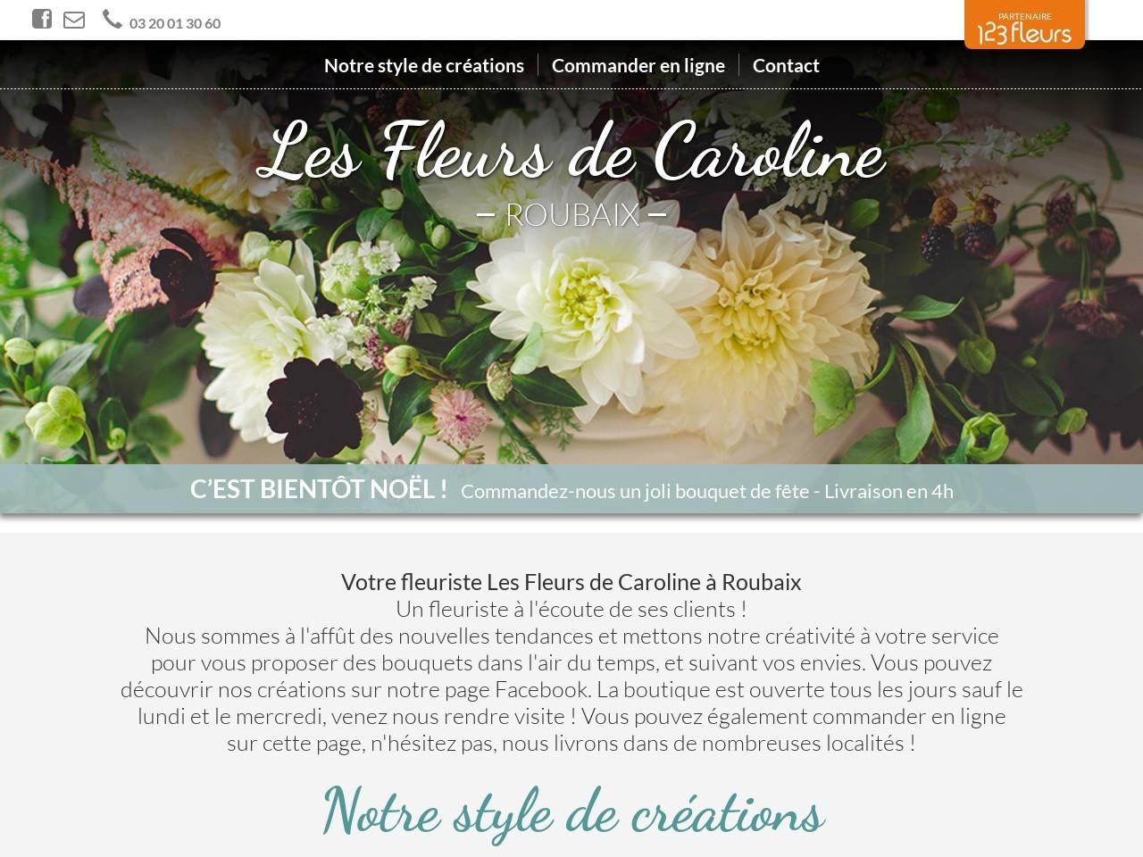 Site fleuriste Les Fleurs de Caroline - 123fleurs