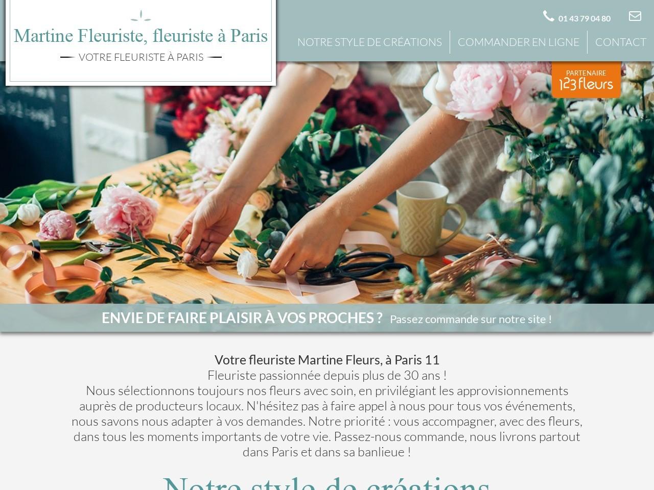 Site fleuriste Martine Fleuriste - 123fleurs