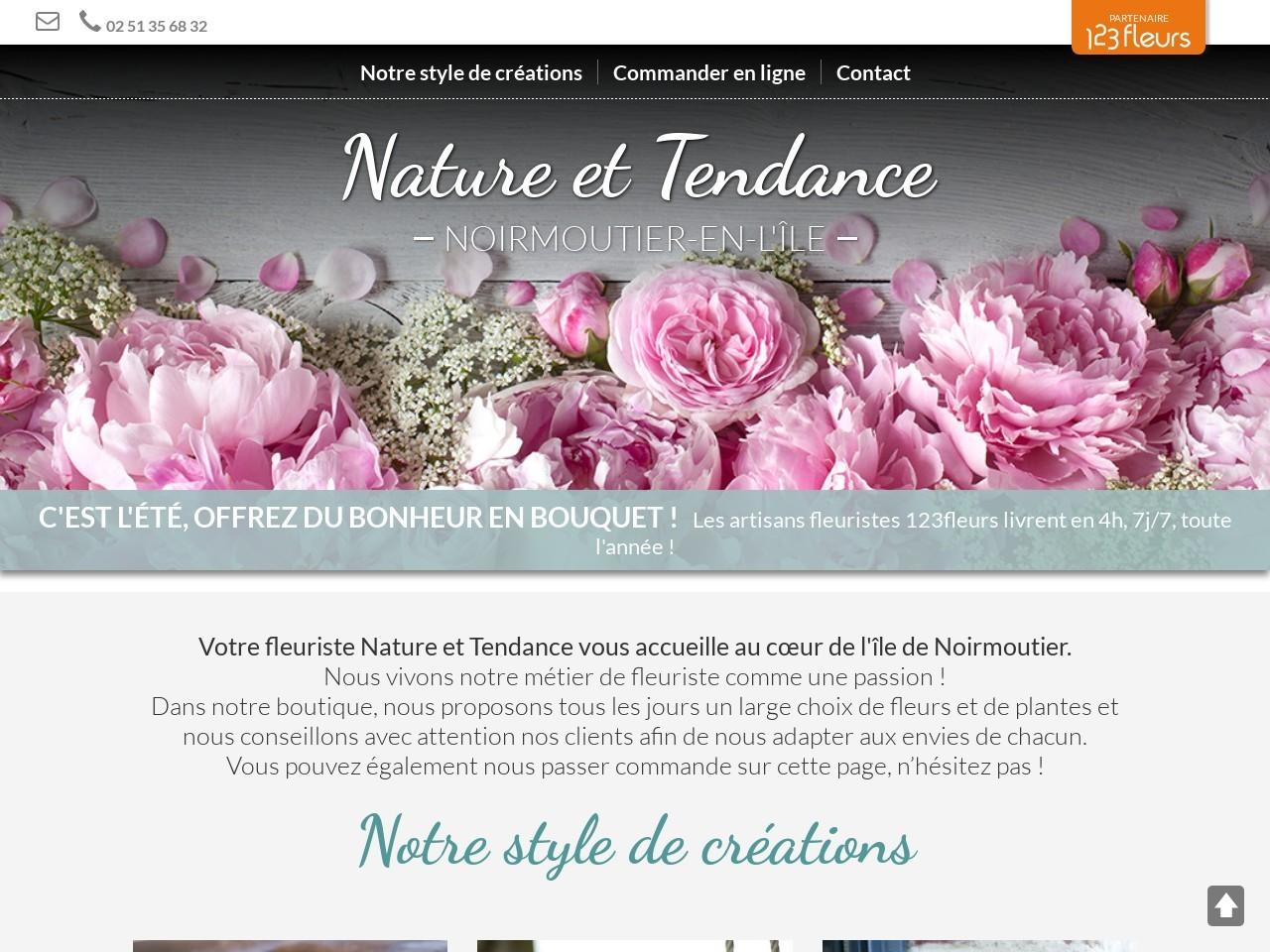 Site fleuriste Nature et Tendance - 123fleurs
