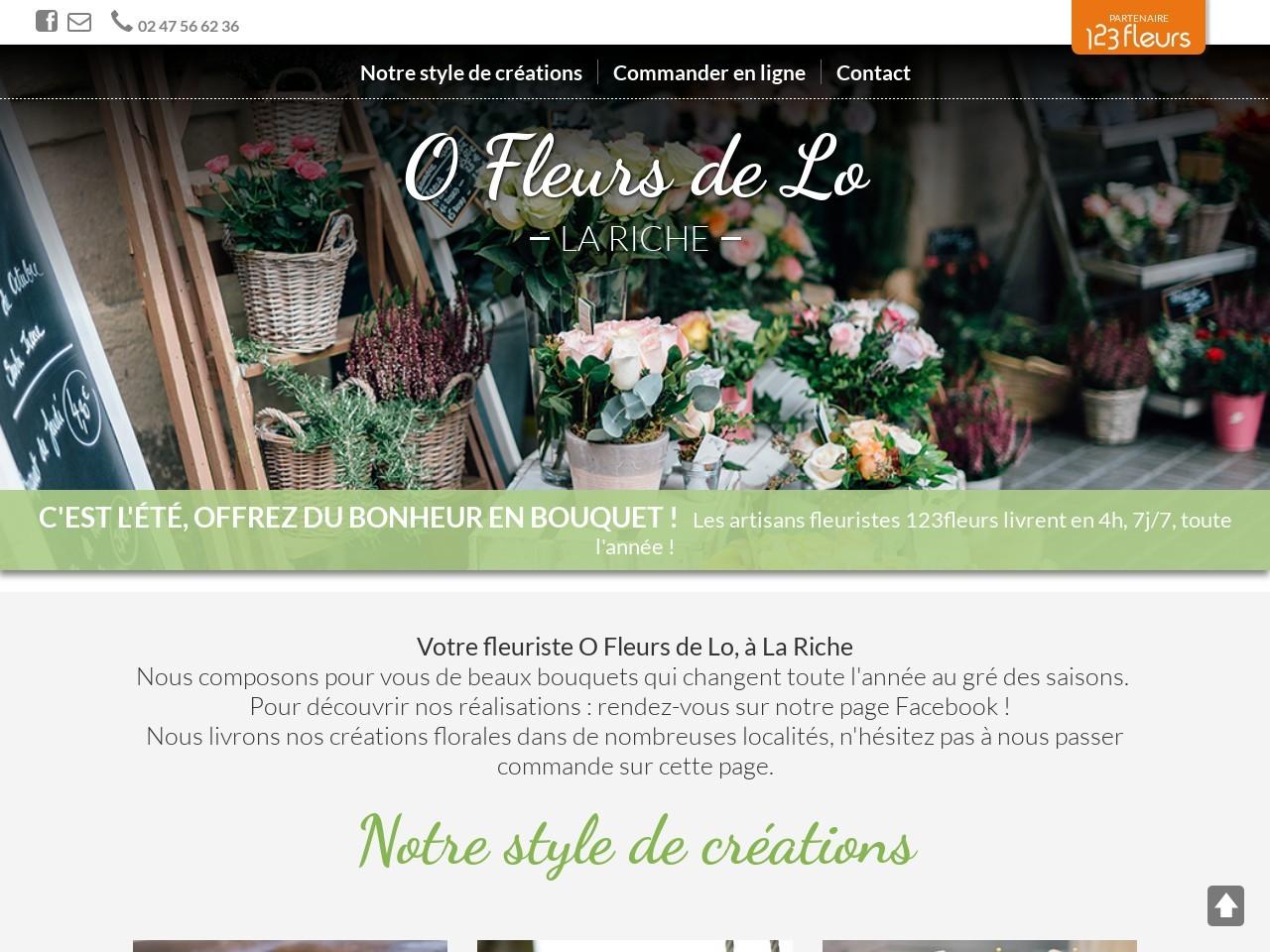 Site fleuriste O Fleurs de Lo - 123fleurs