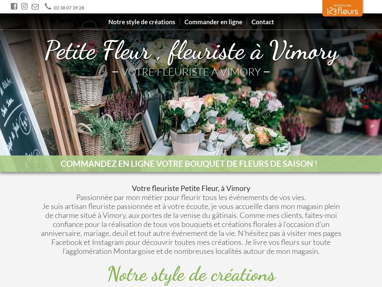 Site fleuriste Petite Fleur - 123fleurs