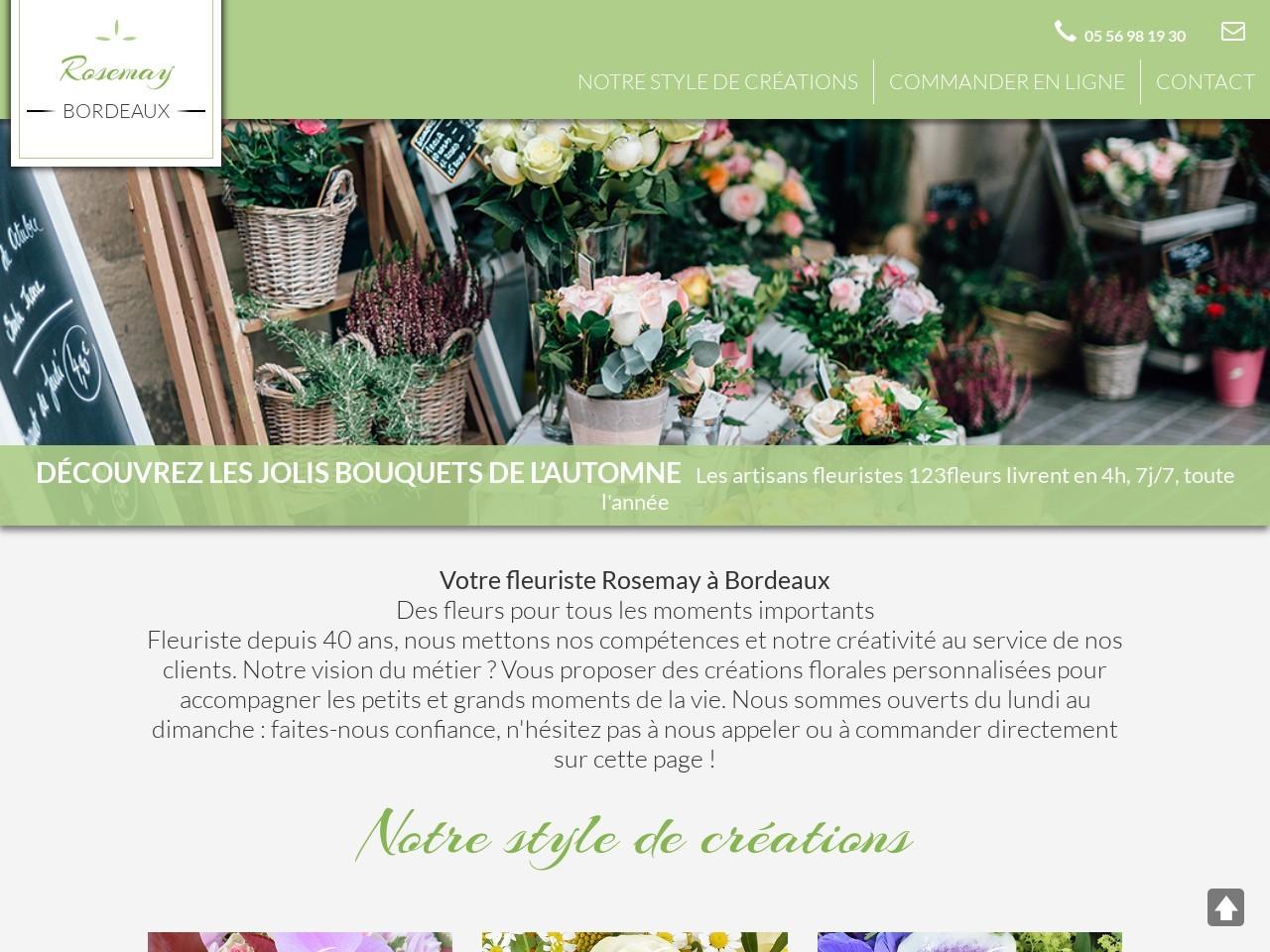 Site fleuriste Rosemay - 123fleurs