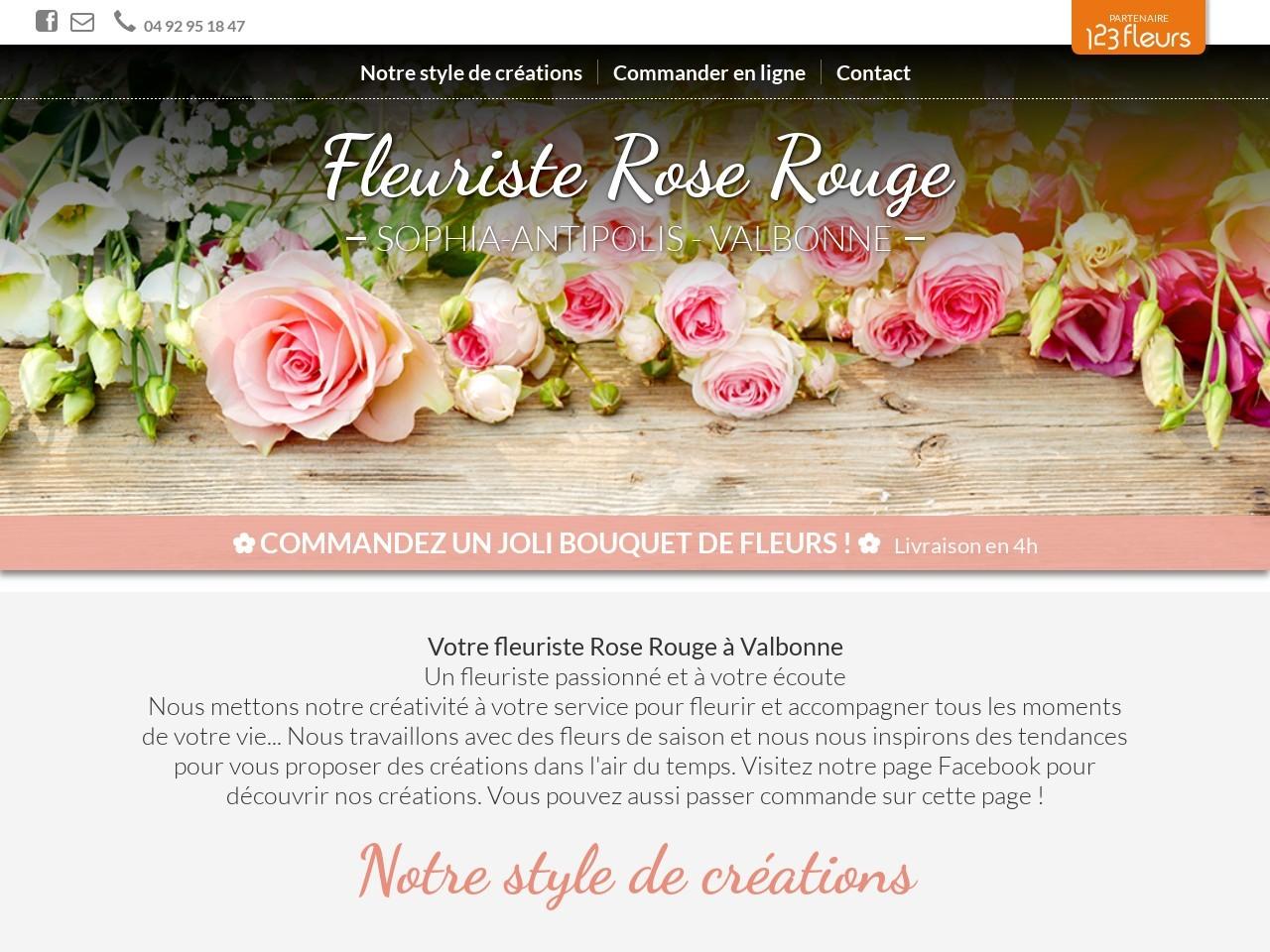 Site fleuriste Rose Rouge - 123fleurs